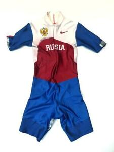 Spandex running suit by RUS team. Shiny and very smooth suit with crotch zuipper