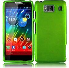 Hard Rubberized Case for Motorola Droid RAZR Maxx HD XT926M - Green