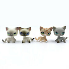 4PCS LPS toys Pet Shop cats lot short hair cat #125 #5 #852 #391