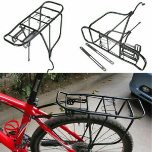 New Alloy Rear Bicycle Pannier Rack Carrier Bag Luggage Cycle Mountain Road Bike