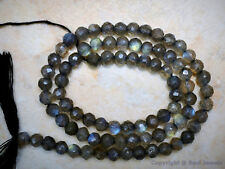 """LABRADORITE Fire 4-4.5mm ROUND FACETED Gemstone Beads 14"""" Strand - Great Quality"""