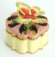 Jewelry box / Enamel gift box/Butterfly with Rhinestone / Wedding favor......