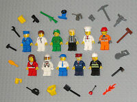 Lego MINIFIGURES Lot 11 People Doctor Army Girl Fireman City Space Guys Minifigs