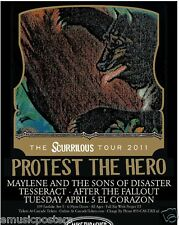 """PROTEST THE HERO 2011 """"SCURRRILOUS TOUR"""" SEATTLE CONCERT POSTER - Metal Music"""