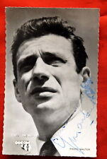 YVES MONTAND 50's ORIGINAL HAND SIGNED POSTCARD PHOTO