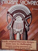 Macrame Showpieces: 12 easy to challenging designs ~ Vintage patterns ~ see pics
