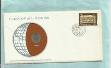 #D55.  STAMPED  ENVELOPE & COIN - CYPRUS