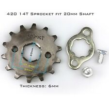 420-14T 20mm 420 Size 14 Teeth  Front Sprocket For  Motorcycle ATV Dirt bike