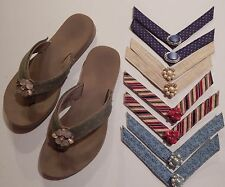 Lindsay Phillips Switch flops Size 8 M Tan With Five Sets of Straps