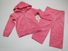 NWT Juicy Couture 2 Pc Athletic Jog Jogging Set Baby Infant Girls 18-24 M $68