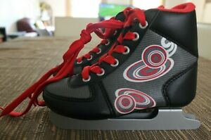 Kids ZigZag Bladerunner Double Blades 6.0 Ice Skates, Black, Size US 11J, UK 10J