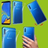 Für Samsung Galaxy A7 A750F 2018 Silikoncase Transparent Tasche Hülle Cover Neu
