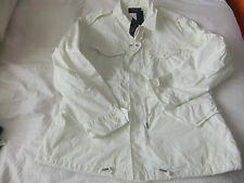 RALPH LAUREN MENS White Embroidered Combat Jacket Size L  SUMMER JACKET/BOATING