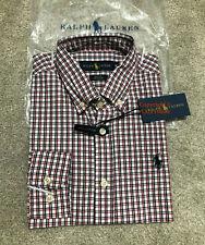 Ralph Lauren Men's WHITE CHECK Shirt 100% Premium Soft Cotton