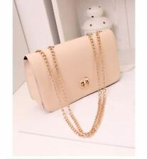 Quilted Chain Shoulder Bag (Beige)