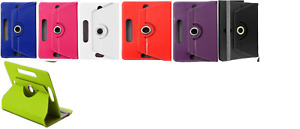 """Multi Alcatel Tablet PC 10""""-10.1""""inch Tablet Cover Stand 4 360° Rotating Case UK"""