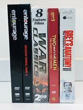 Lot of 5 New Used DVD Movies & TV Shows Entourage Grey's 2 Half Men WAR  /  324a