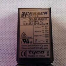 SCHRACK 4PDT MT301024 RELAY , 24V COIL , 10A 250V OR 5A 400V