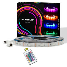 5M New Plug Design 12V RGB LED Strips IP65 Xmas Light for Home Cabinet + Remote