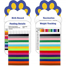 30 Pcs/Set Puppy Id Collar 4 Record Keeping Charts- Double Sided Identification