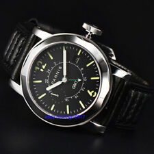 Sapphire Glass Parnis Men's Gents 44mm Automatic Movement GMT Watch Date Window