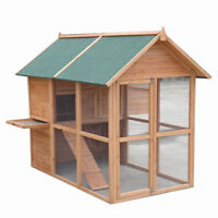 XLarge 2*1.6*1.5M Chicken Coop Rabbit Hutch Guinea Pig House with Big Run T057