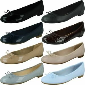 'Ladies Clarks' Ballerina Style Flats - Couture Bloom