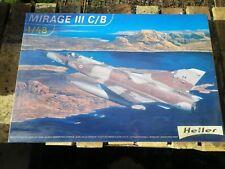 HELLER Kit plastique 1:48 AVION MIRAGE III C / B ETAT NEUF BOITE SOUS FILM