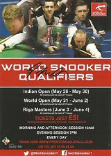World Snooker Qualifiers 2016 Preston Flyer. Personally Signed by Gary Wilson.