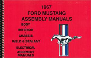 1967 Ford MUSTANG Montaje Manual Juego De 5 Libros En 1 Volumen