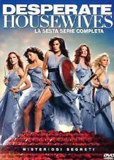 DESPERATE HOUSEWIVES - STAGIONE 6 (6 DVD) COFANETTO UNICO, ITALIANO, NUOVO
