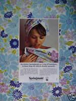 PUBLICITÉ 1973 SPRINGMAID LINGE DE TOILETTE COTON D'AMÉRIQUE - ADVERTISING