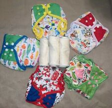 NEW Lot 5 Washable Reusable Adjust Cloth Diaper Girls 4 layers insert LOLLIPOPY