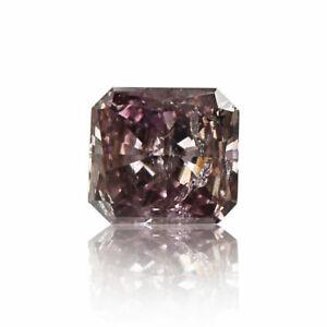 Purple Pink Diamond Natural Fancy Color Eye Clean Loose Radiant Cut 0 .16 Ct