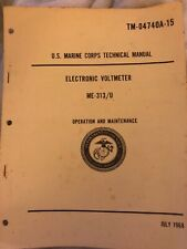Operation And Maintenance Technical Manual For Electronic Voltmeter Me-313/U