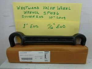 """Westward 11/16"""" & 1"""" Valve Wheel Wrench 5PWE6, Double-End, 10"""" Forged Steel"""