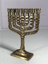 Mini Brass Candlesticks Hanukkah Judaica Vintage Jewish Menorah Candlestick