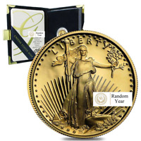 1/10th oz American Gold Eagle Proof Coin With Box and COA Random Year