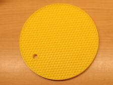 4x Yellow Silicone Honeycomb Round Trivet  Heat Resistant Potholder Mat Flexible
