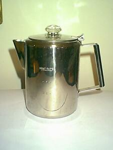 NICE 9 CUP STAINLESS STEEL PERCOLATOR COFFEE POT