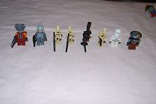 Lego Star Wars Minifigures Lot 8 Heroes Villians Embo Snowtrooper Nute Gunray