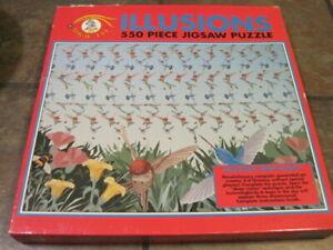 MAGIC EYE ~ ILLUSIONS ~ 550 PC. PUZZLE ~ HUMMINGBIRDS ~ DEEP VISION ~ NEW