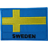 Sweden Flag Embroidered Iron Sew On Patch Swedish Shirt Jacket Embroidery Badge