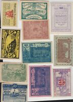 15 AUSTRIA SMALL HELLER NOTGELD NOTES IN EXTREMELY FINE CONDITION.