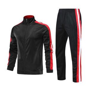 Mens Tracksuit 2 Piece Casual Pants Jacket Sweatsuit Hip Hop Sweatshirt Warm Set