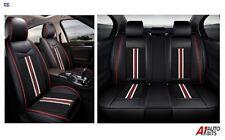 Deluxe Noir PU Cuir Set Complet Housses de Siège Pour VW Golf Polo Passat Jetta