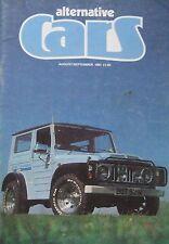 Alternative Cars magazine 8-9/1981 featuring Ginetta G4, Caterham Seven, Suzuki