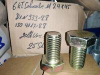 10 Sechskantschrauben Vollgewinde DIN933 M20x35 %bei Mehrfachkauf% gelb verzinkt