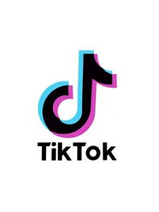 Tricolour Tik Tok Vinyl Sticker Decal - Laptops / Tablets / Bottles etc