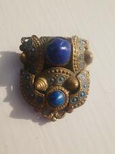 Lazuli dress clip Vintage Art Deco lapis